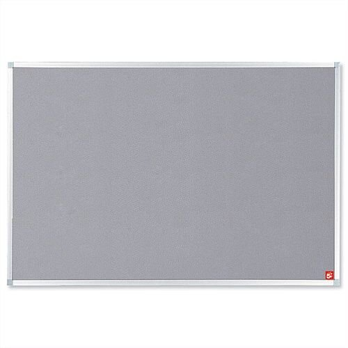 Grey Notice Board with Aluminium Trim and Fixings 1200 x 900mm 5 Star