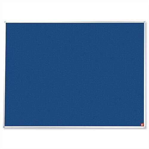 Blue 1800 x 1200mm Notice Board Aluminium Frame with Fixings 5 Star