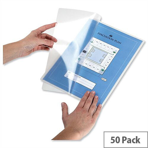 Durable Seal-It A4 Self Adhesive Laminating Pouch Pockets Pack 50