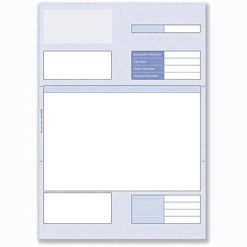 A4 Invoice Form for Laser or Inkjet Communisis Sage Compatible 297x210mm Pack 500