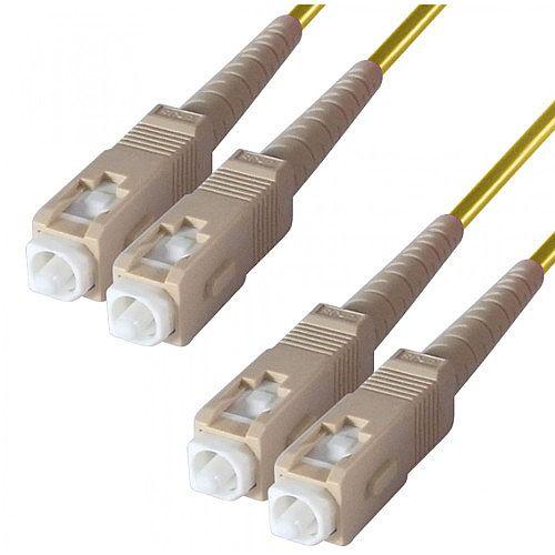 Group Gear 1M Sc-Sc Sm Duplex Fibre Patch Lead Yellow 9-DX-SC-SC-1-YW