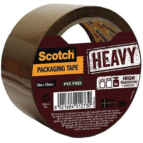 Scotch Heavy Duty Packaging Tape 50mm x 50m Brown HV.5050.S.B