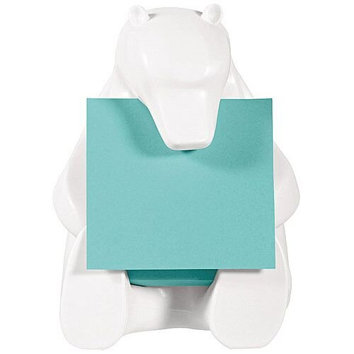 Post-it Z-Note Dispenser Bear Design inc Pack of 1 Post-it Super Sticky Z-Notes 76 x 76mm BEAR-330