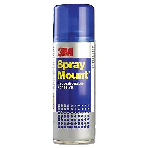 3M Spray Mount Repositionable Adhesive Spray Can 200ml HSMOUNT
