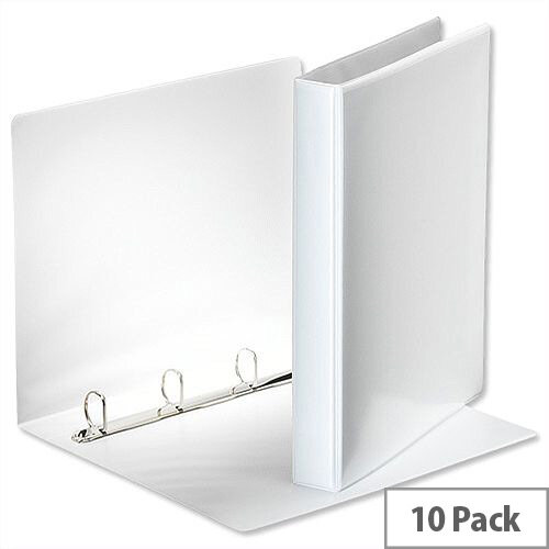 Esselte Presentation Ring Binder A4 White 25mm Size 4 D-Ring 600535/49702 Pack 10