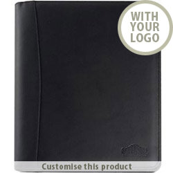 Malvern Genuine Leather A4 Zipped Ring Binder Folder 40536756 - Customise with your brand, logo or promo text