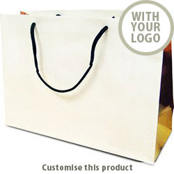 Copse Redwood White Kraft Bag 40690287 - Customise with your brand, logo or promo text