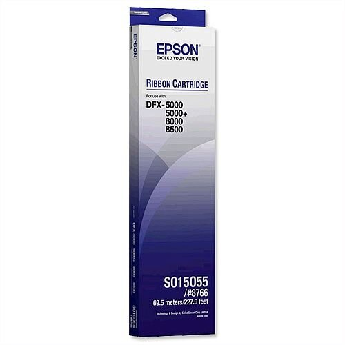 Epson S015055 Printer Ribbon Black for DFX5000 8000 8500