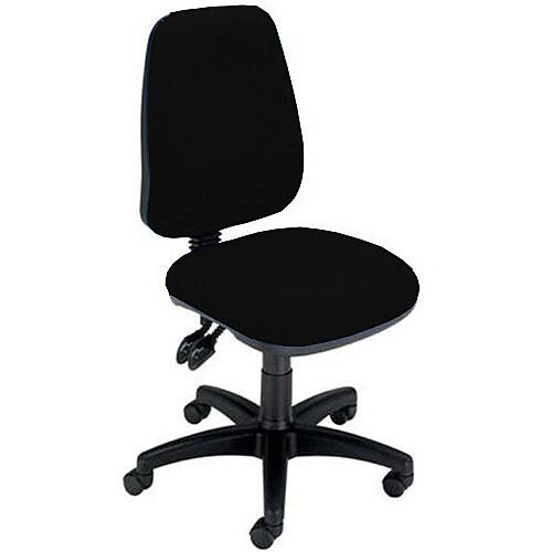 Permanent Contact High Back Task Operators Office Chair Black Trexus Intro