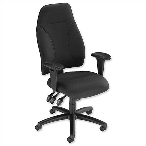 Esme Ergonomic Posture High Back Asynchronous Office Armchair Black