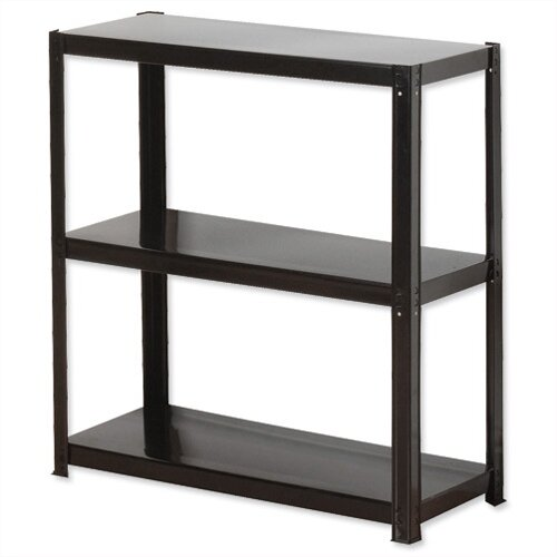 Light Duty Boltless 3-Shelf Unit Black Zamba Storage Solutions