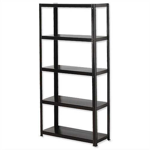 Light Duty Boltless 5-Shelf Unit Black Zamba Storage Solutions