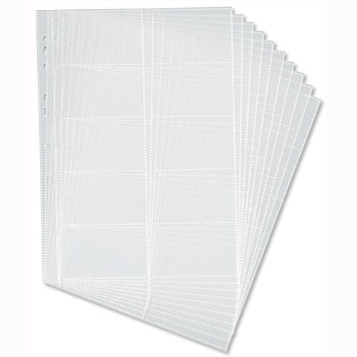Durable Visifix Refill Set for A4 Business Card Album Capacity 200 57x90mm Cards 2388/36