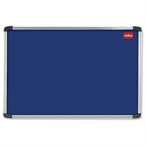 Nobo 1500 x 1000mm Blue Felt Aluminium Frame Notice Board with Fixings