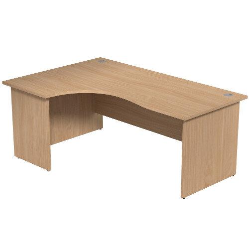 Radial Office Desk Panelled Left Hand W1800xD1200xH725mm Beech Ashford