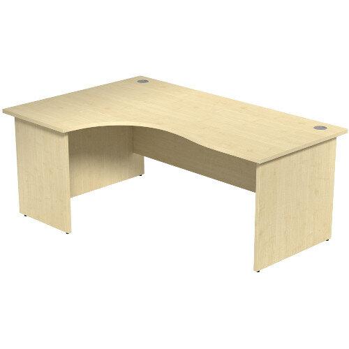 Radial Office Desk Panelled Left Hand W1800xD1200xH725mm Maple Ashford