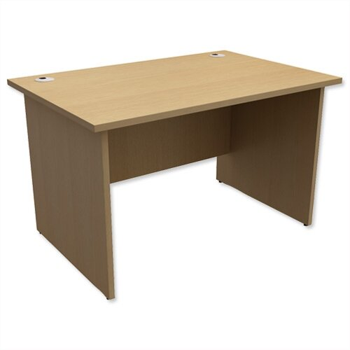 Panel End Desk Rectangular W1200xD800xH725mm Urban Oak Ashford