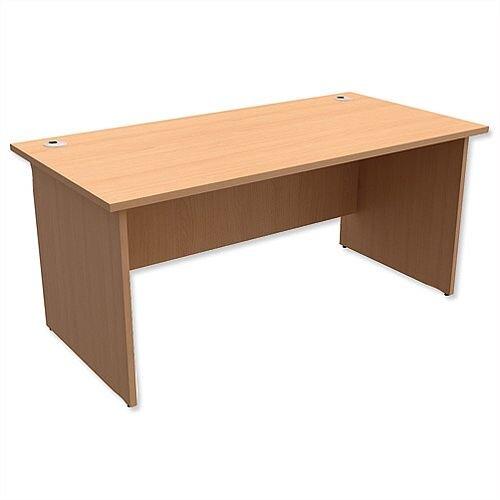 Panel End Desk Rectangular W1600xD800xH725mm Beech Ashford