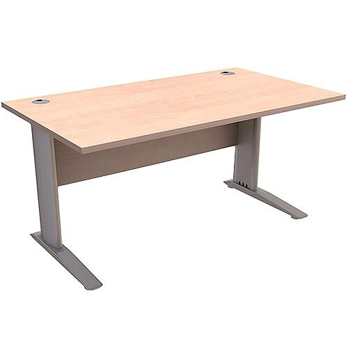 Cantilever Office Desk Rectangular W1600xD800xH725mm Beech Komo