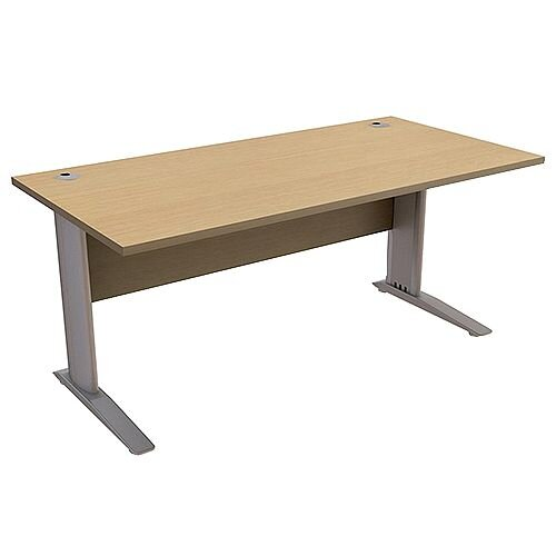 Cantilever Office Desk Rectangular W1600xD800xH725mm Urban Oak Komo
