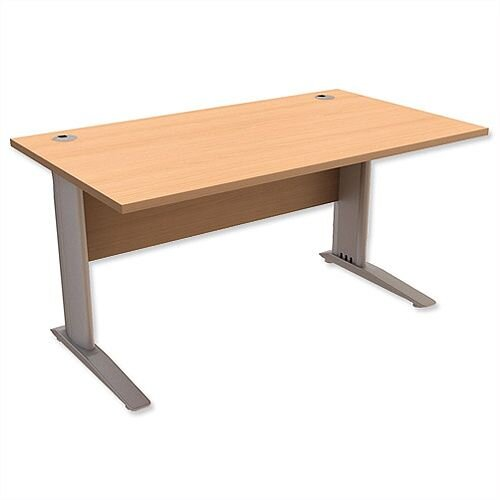 Cantilever Office Desk Rectangular W1400xD800xH725mm Beech Komo