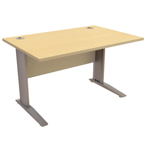 Cantilever Office Desk Rectangular W1200xD800xH725mm Maple Komo