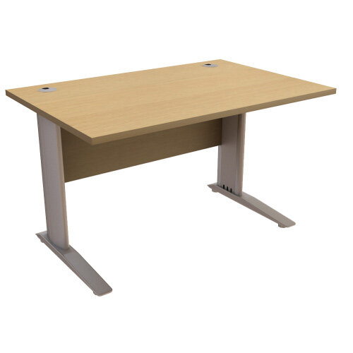 Cantilever Office Desk Rectangular W1200xD800xH725mm Urban Oak Komo