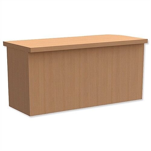 Rectangular Reception Desk Riser W800xD300xH370mm Beech Ashford