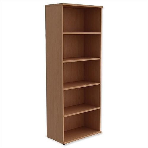 Tall Bookcase with 4 Shelves H2000mm Beech