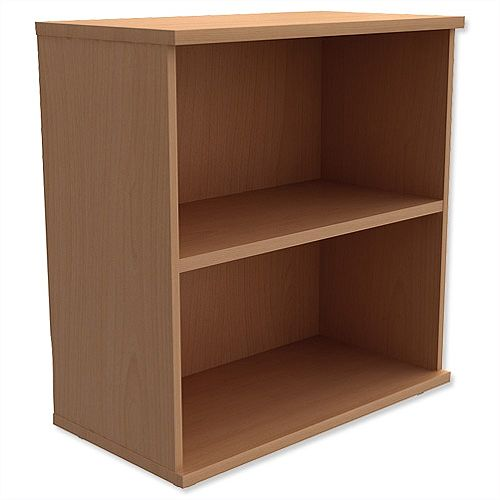 Kito Low Bookcase With Adjustable Shelves &Floor-leveller Feet W800xD420xH770mm Beech