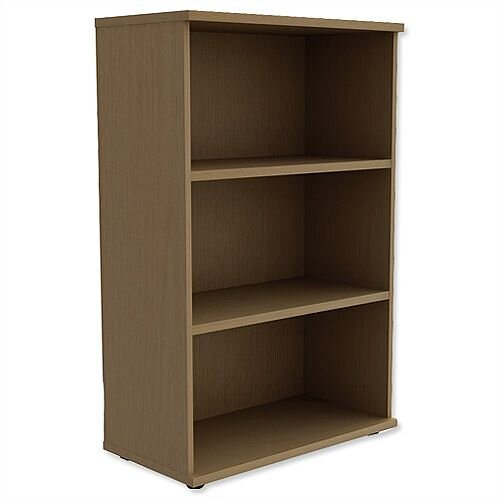 Medium Bookcase 1130mm High With Adjustable Shelves &Floor Leveller Feet Urban Oak Kito