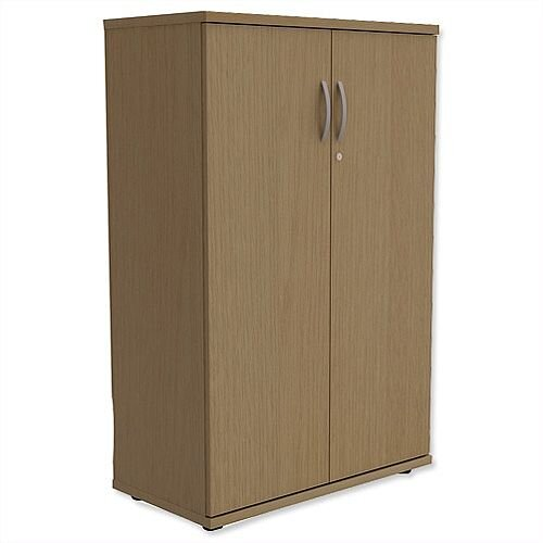Medium Cupboard with Lockable Doors H1130mm Urban Oak Kito
