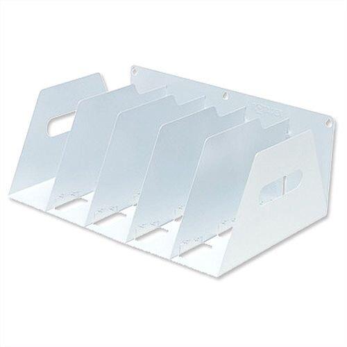 Lever Arch Filing Rack Portable White Rigid Metal