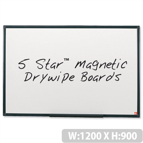 Magnetic Whiteboard 1200 x 900mm 5 Star