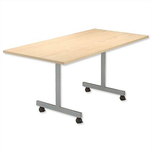 Maple Mobile Flip-Top Rectangular Table Width / Length 1600mm