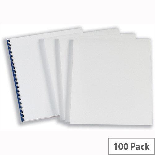 GBC Comb Binding Covers 220gsm A4 Optimal Matt Silk White CEO80070 Pack 50x2
