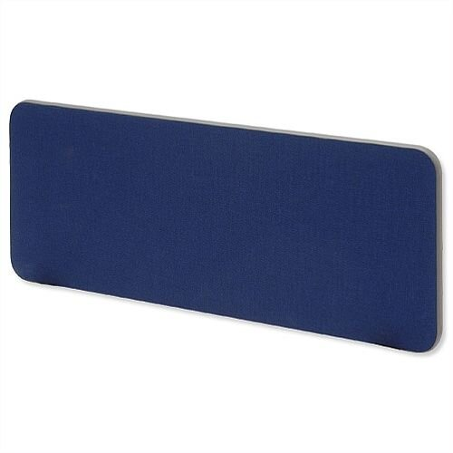 Desk Mounted Screen W800 x H300mm Blue