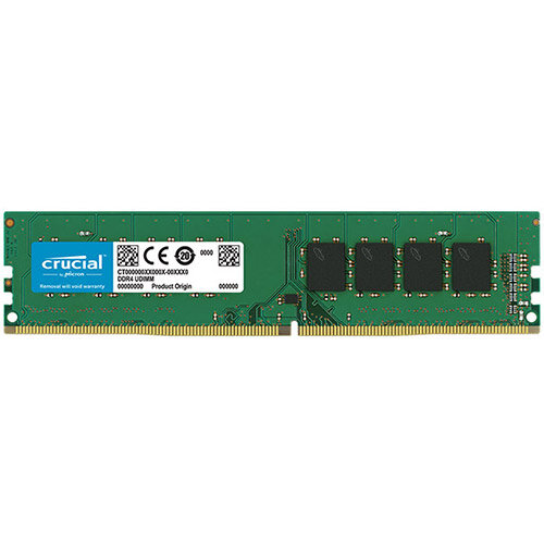 Crucial - DDR4 - 16 GB - DIMM 288-pin - 2666 MHz / PC4-21300 - CL19 - 1.2 V - unbuffered - non-ECC