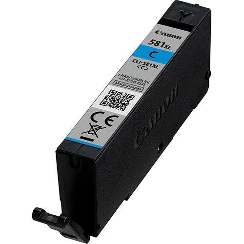Canon CLI-581C XL - XL size - cyan - original - ink tank - for PIXMA TR7550, TR8550, TS6150, TS6151, TS8150, TS8151, TS8152, TS9150, TS9155
