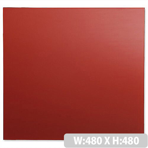 Sigel Artverum High Quality Tempered Glass Magnetic Whiteboard With Fixings 480x480mm Red Ref GL114