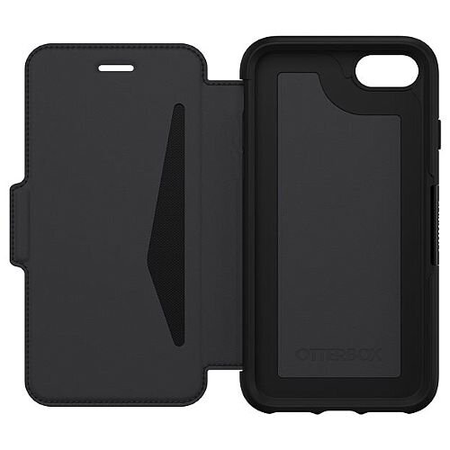 OtterBox Strada Series Folio-Flip Cover for Apple iPhone 7 &8 - Genuine Leather, Polycarbonate (Colour Black)