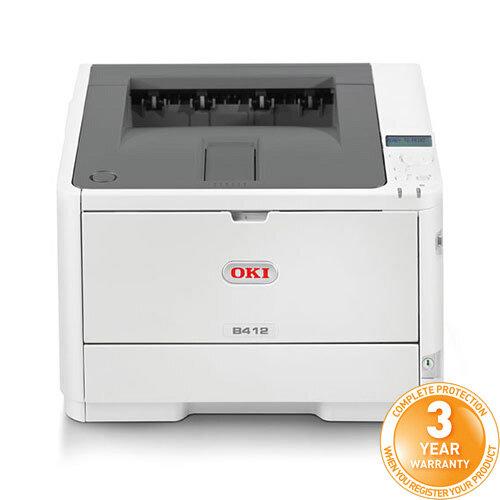 OKI B412dn A4 Mono Laser Printer Network Ready Duplex