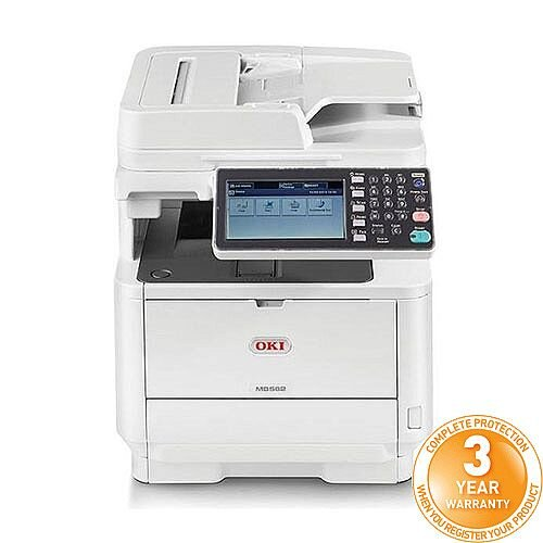OKI MB562dnw Mono Multifunction Laser Printer A4 Duplex Network Fax Wireless