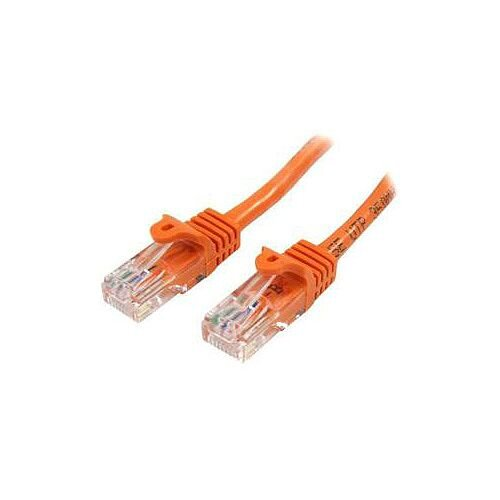 StarTech 0.5m Orange Cat5e Patch Cable with Snagless RJ45 Connectors Short Ethernet Cable 0.5 m 45PAT50CMOR