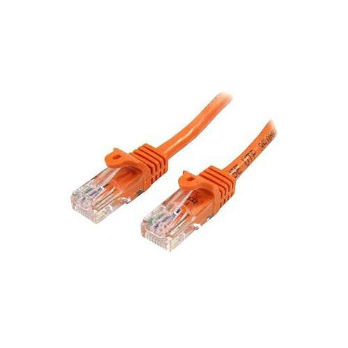 StarTech 5m Orange Cat5e Patch Cable with Snagless RJ45 Connectors Long Ethernet Cable 5 m 45PAT5MOR