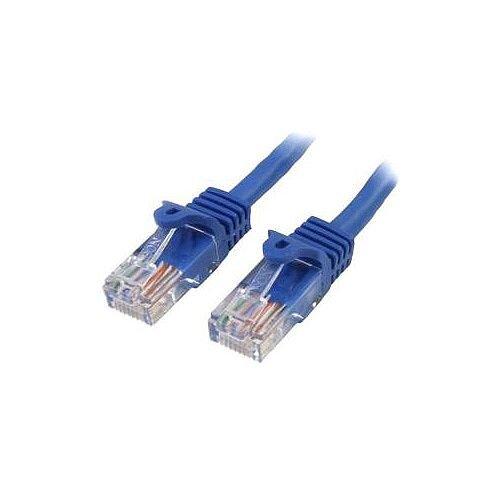 StarTech 7m Blue Cat5e Patch Cable with Snagless RJ45 Connectors Long Ethernet Cable 7 m 45PAT7MBL