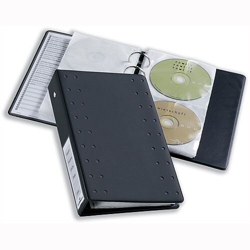 Durable CD and DVD Pockets for Index 20 Ring Binder Hold 2 Disks Clear Pack 5