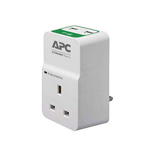APC Essential Surgearrest PM1WU2 - Surge protector - AC 230 V - output connectors: 1 - United Kingdom