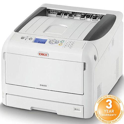 OKI C823dn Colour Laser Duplex Networked Printer A3