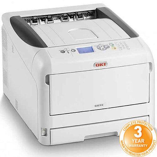 OKI C833dn Colour Laser Duplex Networked Printer A3